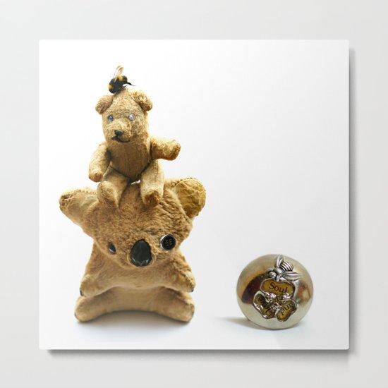 A Koala, a Teddy and a Bee Metal Print