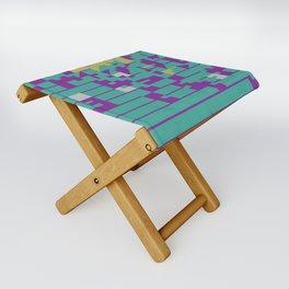 Abstract 8 Bit Art Folding Stool