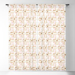 Rose Gold Watercolor Tile Blackout Curtain