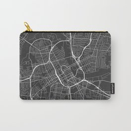 Nashville Map, USA - Gray Carry-All Pouch