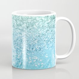 Seafoam Aqua Ocean MERMAID Girls Glitter #1 #shiny #decor #art #society6 Coffee Mug