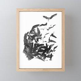 Face Framed Mini Art Print