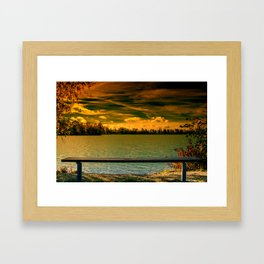 Looking towards the lake Framed Art Print