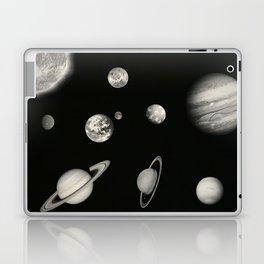 Black and White Solar System Laptop & iPad Skin