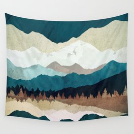 Fall Forest Night Wall Tapestry