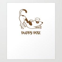 Puppy Pose Art Print