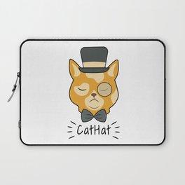 Cat Hat Arrogant Animal Love Pet Gift Laptop Sleeve
