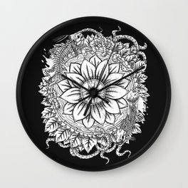 Malignant Bloom Wall Clock