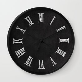 Simple Chalkboard background- black - Autum World Wall Clock