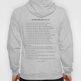 Children Learn What They Live #minimalism 2 Hoody