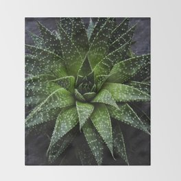 Succulent plant Throw Blanket
