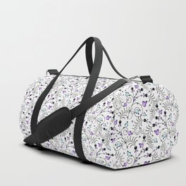 Floral pattern on a white background Duffle Bag