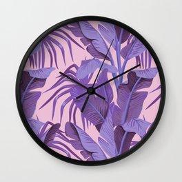 Tropical '17 - Starling [Banana Leaves] Wall Clock