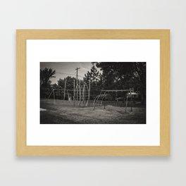Old Playground, Kathryn, North Dakota Framed Art Print