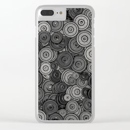 Heavy iron / 3D render of hundreds of heavy weight plates Clear iPhone Case