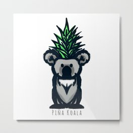 Pina Koala Metal Print