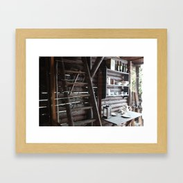 the土热  Framed Art Print