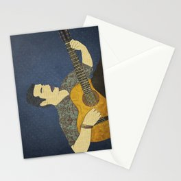 Classical guitar player Stationery Cards