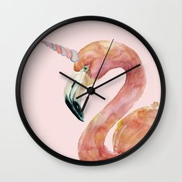 Be Special - Flamingo Unicorn Wall Clock