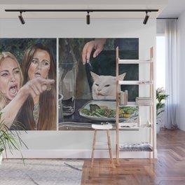 Woman Yelling at Cat Meme-3 Wall Mural