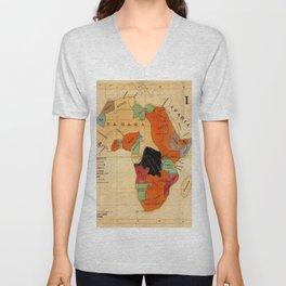 Map Of Africa 1908 Unisex V-Neck