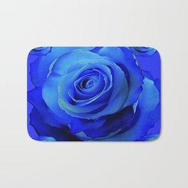 BLUE ROSES & BLUE  MODERN ART CONCEPT Bath Mat