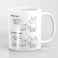 napoleon Mugs featuring Napoleon Complex by Bird gifts for bird folks