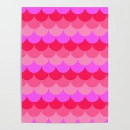 Scalloped Confetti in Neon Coral Reef Poster