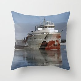 Arthur Anderson Freighter Iced Throw Pillow