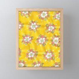 Lemon Rose Framed Mini Art Print