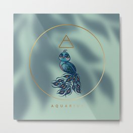 Baby Aquarius - The Baby Zodiac Collection Metal Print