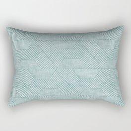 cadence triangles - dusty blue Rectangular Pillow