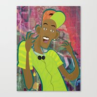 fresh prince Canvas Prints featuring fresh prince by Michelle Pine