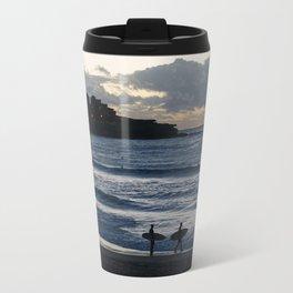 Morning Surfers on Bondi Beach Travel Mug