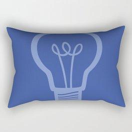 BlueLight Bulb Rectangular Pillow