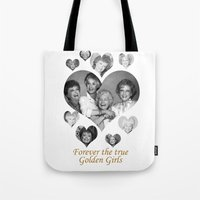golden girls Tote Bags featuring The Golden Girls by BeeJL