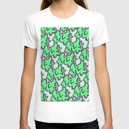Stay Graffiti Pattern - Slime Green T-shirt