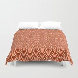 Orange Fish Scales Duvet Cover