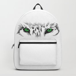 Wolf Green Eyes Backpack