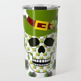 St Paddys Skull - St Patrick's Day Travel Mug