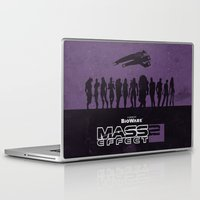 mass effect Laptop & iPad Skins featuring Mass Effect 2 by Bill Pyle