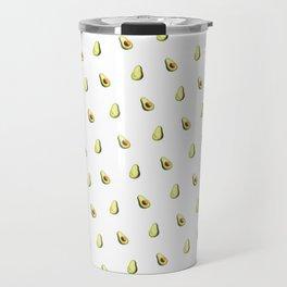 Avocado Print   White Travel Mug