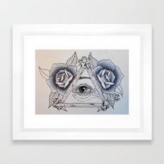 Big Sis' Eye of Providence Framed Art Print