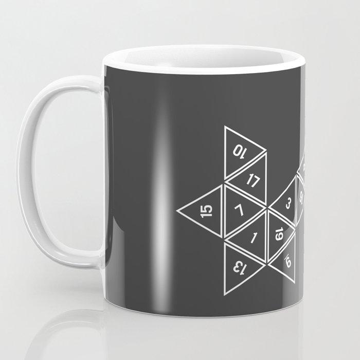 Unrolled D20 Coffee Mug