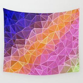 crystalized rainbow Wall Tapestry