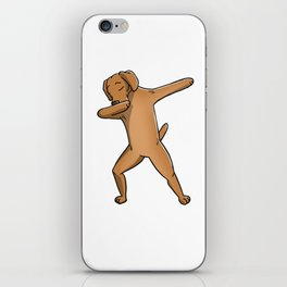 Funny Dabbing Vizsla Dog Dab Dance iPhone Skin