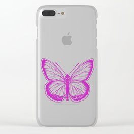 Butterfly - Violet - Beautiful - purple Clear iPhone Case