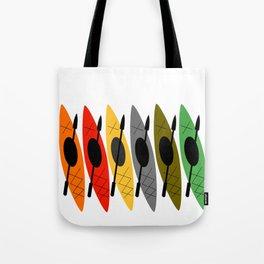 Kayaks in Earth Tone Colors Tote Bag