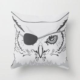 Owl Pirate Throw Pillow