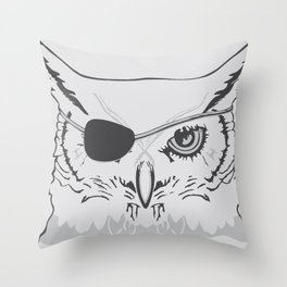 Owl Pirate Throw Pillow